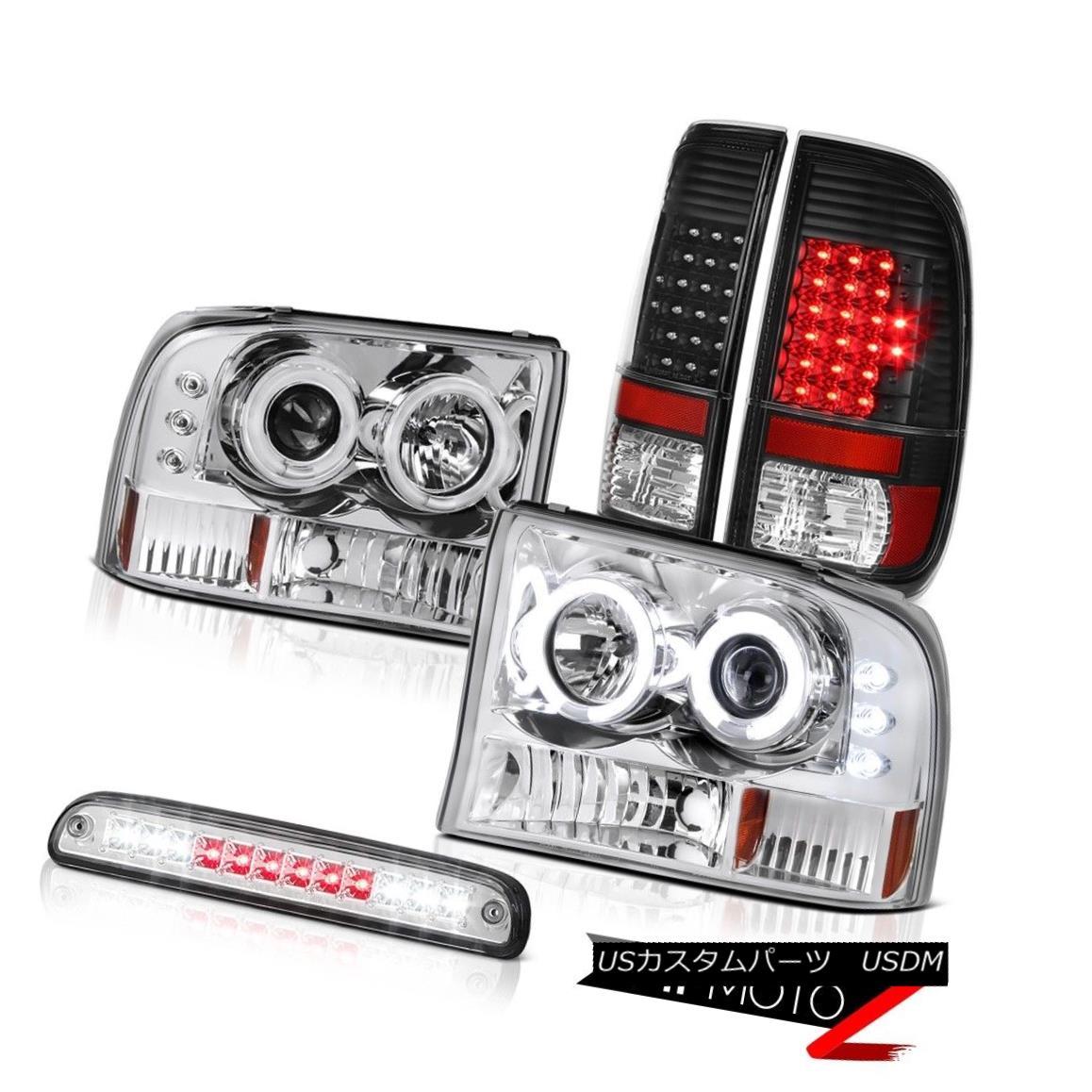 テールライト 99-04 F350 7.3L Devil's CCFL Rim Headlights Bright LED Tail Lights Third Brake 99-04 F350 7.3LデビルのCCFLリムヘッドライト明るいLEDテールライト第3ブレーキ