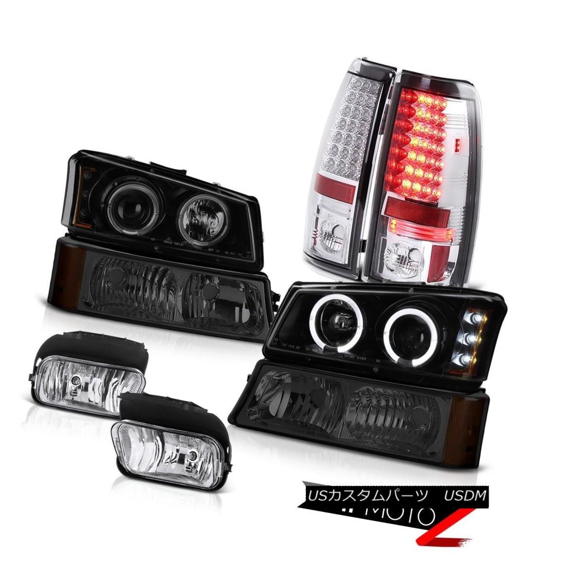 テールライト Headlight Halo LED Turn Signal Tail Light Bumper Foglight 2003-2006 Silverado SS ヘッドライトHalo LED Turn信号テールライトバンパーFoglight 2003-2006 Silverado SS