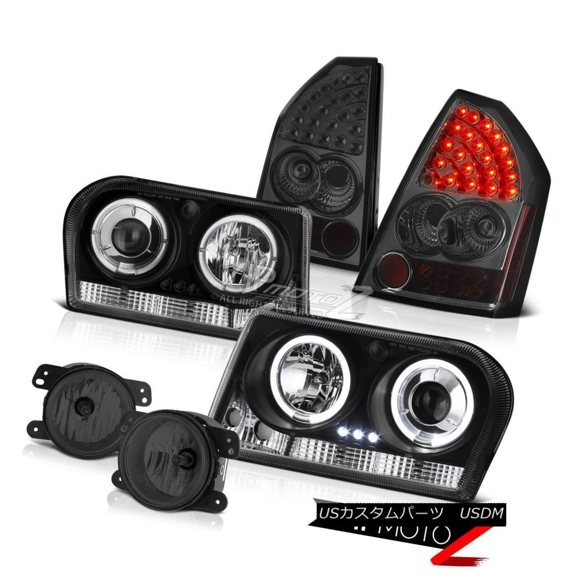 テールライト 2005-2007 Chrysler 300 2.7L LED Projector Headlights L.E.D Tail Lights Smoke Fog 2005-2007クライスラー300 2.7L LEDプロジェクターヘッドライトL.E.Dテールライトスモークフォグ