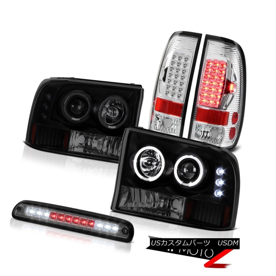 テールライト Smoked Halo Headlights Smoke Third Brake LED Chrome Taillamp 99-04 F250 6.8L Smoke HaloヘッドライトSmoke Third Brake LED Chrome Taillamp 99-04 F250 6.8L