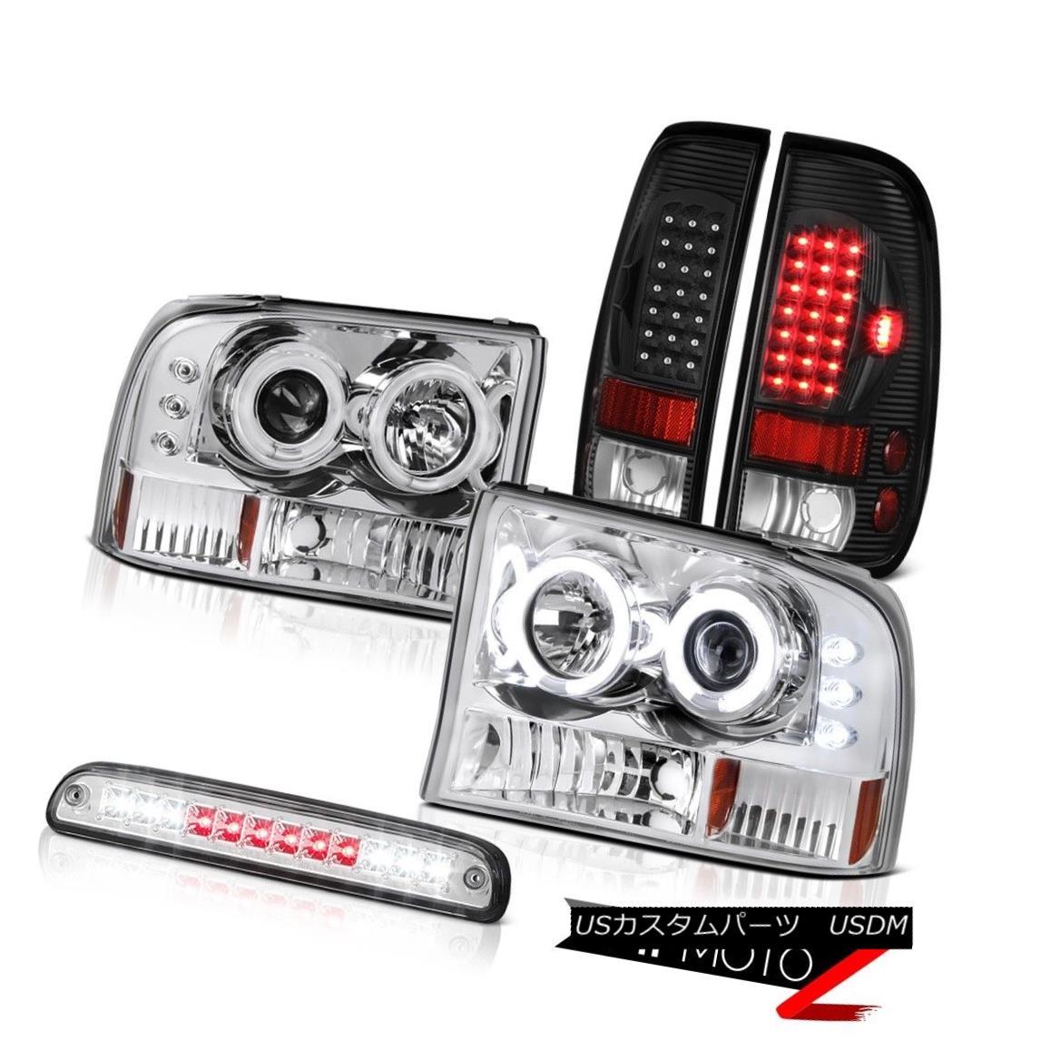テールライト 99-04 F350 7.3L Projector Headlights CCFL Halo Euro Third Brake Bulb Tail Light 99-04 F350 7.3LプロジェクターヘッドライトCCFL Halo Euro第3ブレーキバルブテールライト