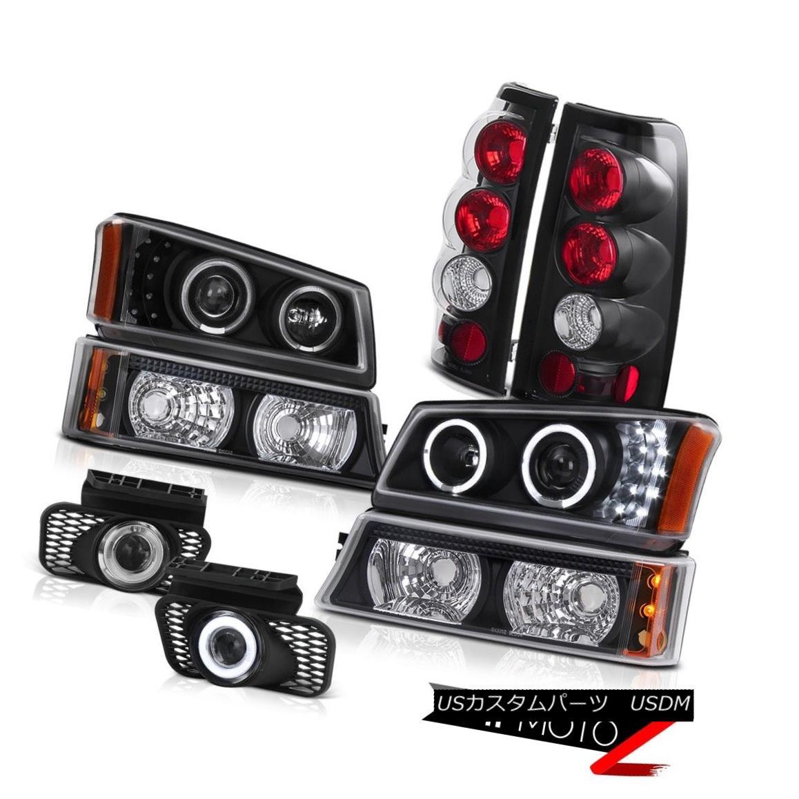 テールライト 03-07 Silverado 3500HD Halo Headlight Signal Parking Tail Light Chrome Clear Fog 03-07 Silverado 3500HD Haloヘッドライトシグナルパーキングテールライトクロームクリアフォグ