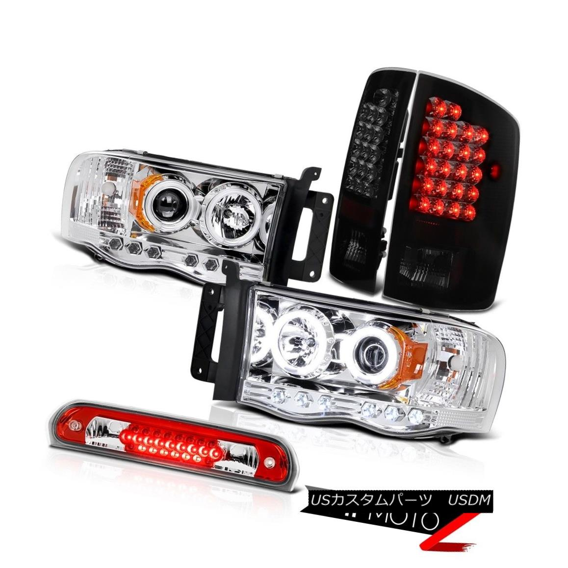 テールライト Brightest CCFL Headlights Philip SuperFlux LED Taillights Roof 02-05 Dodge Ram 最も明るいCCFLヘッドライトPhilip SuperFlux LED曇り屋根屋根02-05 Dodge Ram