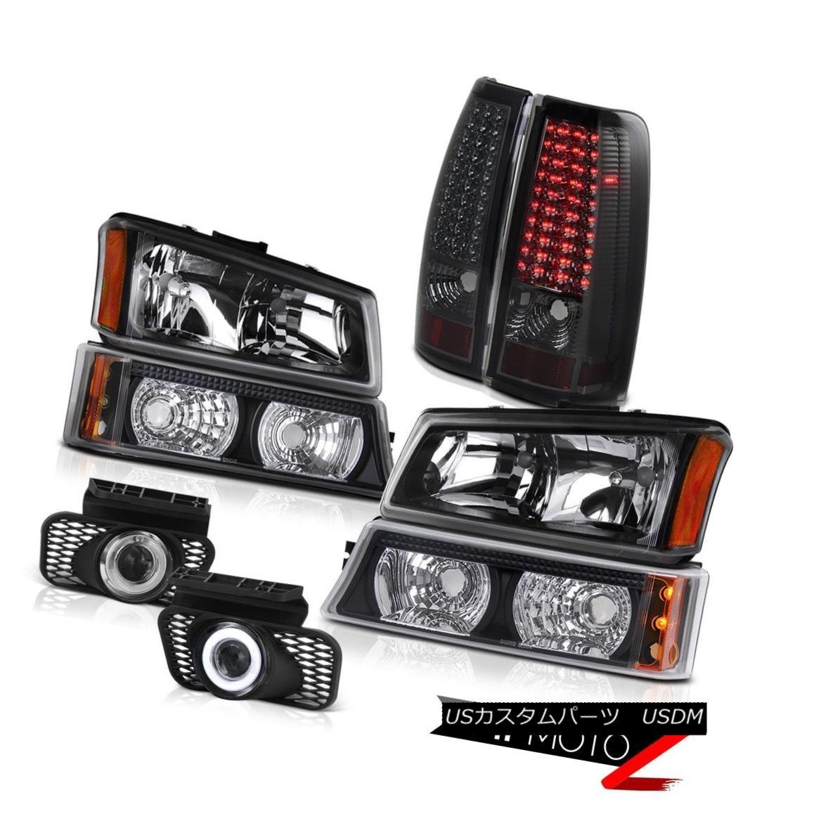 テールライト Pair Headlight Signal Smoke LED Taillight Projector Fog Lamps Silverado 3500HD ペアヘッドライト信号スモークLEDテールライトプロジェクターフォグランプSilverado 3500HD