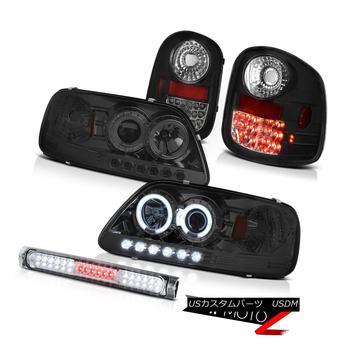 テールライト C.C.F.L Smoke Halo Headlights LED Bulbs Taillamps 97-03 F150 Flareside Lightning C.C.F.L煙ハローヘッドライトLED電球Taillamps 97-03 F150 Flareside Lightning