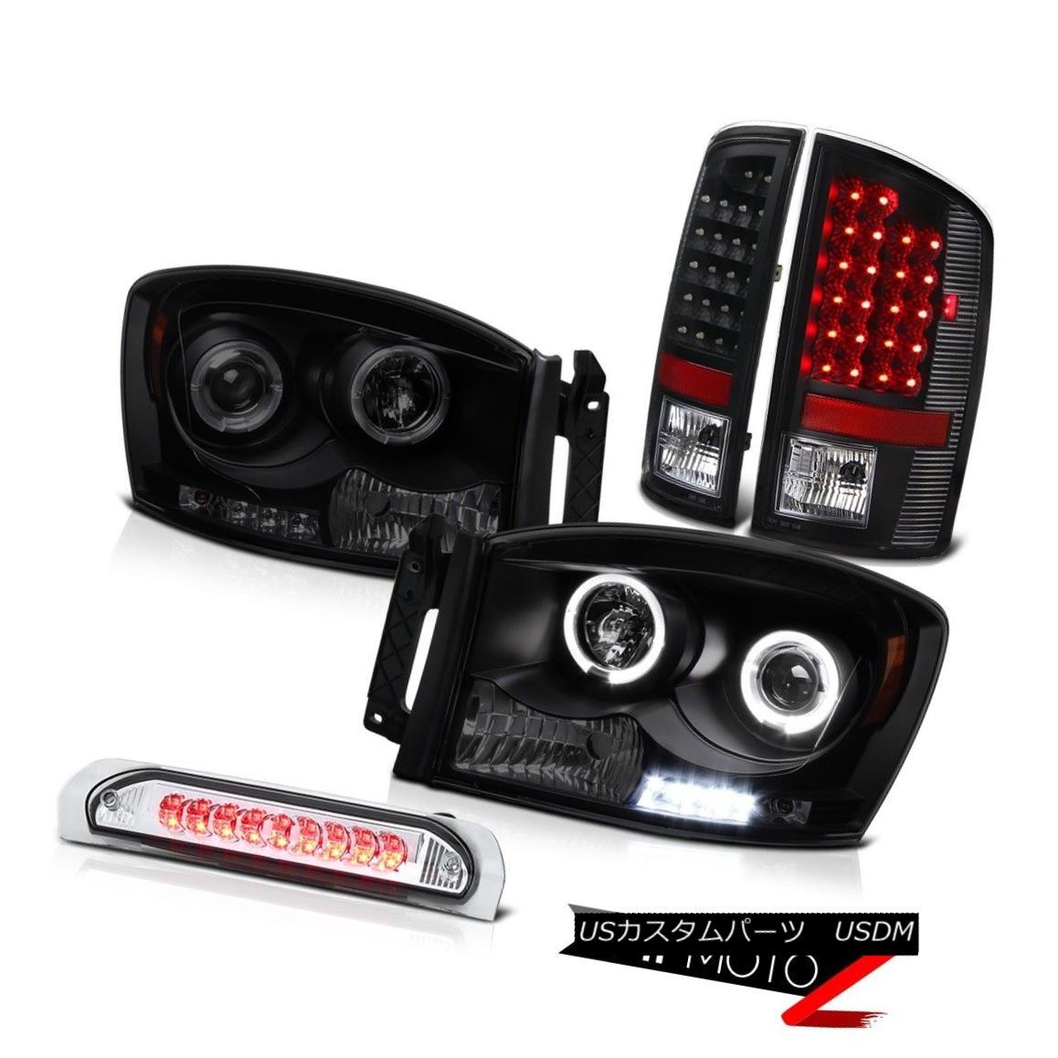テールライト 2006 Dodge Ram SLT Smoke Halo DRL LED Headlights Tail Light 3RD Cargo Cab Lights 2006ダッジラムSLTスモークハローDRL LEDヘッドライトテールライト3RDカーゴキャブライト
