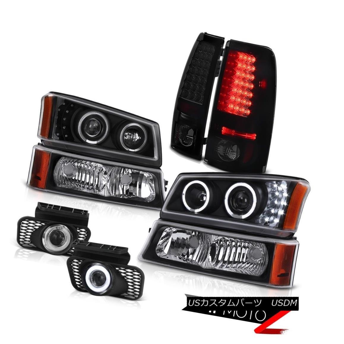 テールライト Dual Angle Eye Headlight Bumper Bright LED Tail Wiring Fog Light 03-06 Silverado デュアルアングルアイヘッドライトバンパー明るいLEDテールワイヤーフォグライト03-06シルバラード