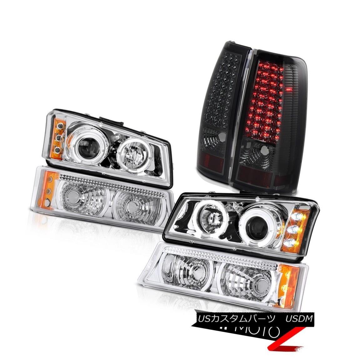 テールライト Chrome L.E.D Halo Daytime Headlights Parking Tail Lights 2003-2006 Silverado LTZ Chrome L.E.D Halo Daytimeヘッドライトパーキングテールライト2003-2006 Silverado LTZ