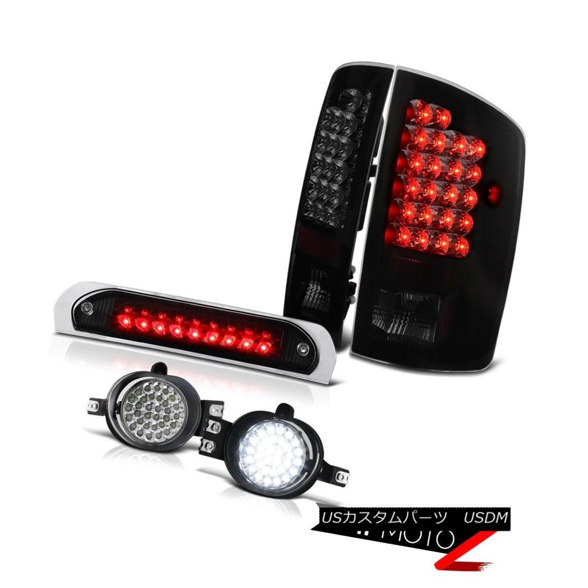 テールライト SuperFlux LED Taillights Daytime Lamps Fog Black 3rd Brake 07 08 Dodge Ram SuperFlux LED灯台昼間ランプFog Black 3rdブレーキ07 08 Dodge Ram