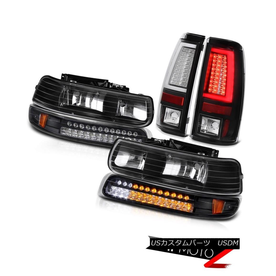 テールライト 99 00 01 02 Silverado Z71 Black Tail Lights Fog Chrome Foglamps Signal Lamp LED 99 00 01 02 Silverado Z71ブラックテールライトフォグクロームフォグランプシグナルランプLED