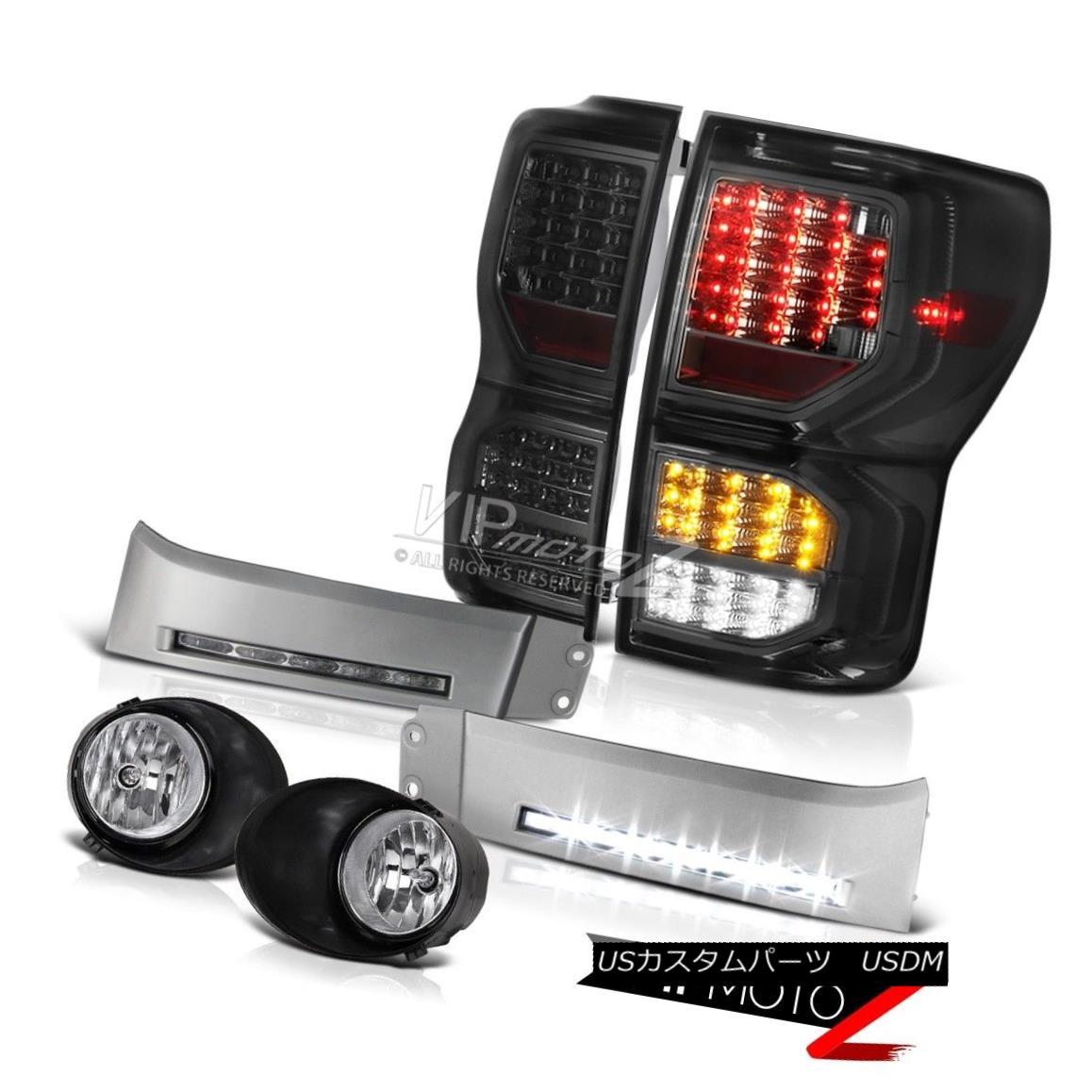 テールライト 2007-2013 Toyota Tundra SR5 Taillamps Silver DRL Strip Euro Clear Fog Lamps LED 2007年?2013年トヨタTundra SR5タイルランプシルバーDRLストリップユーロクリアフォグランプLED