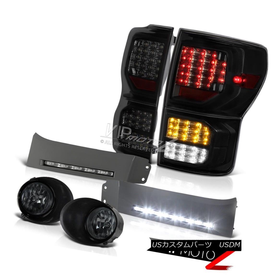 テールライト 07-13 Toyota Tundra SR5 Taillights Bumper DRL Smokey Foglamps SMD