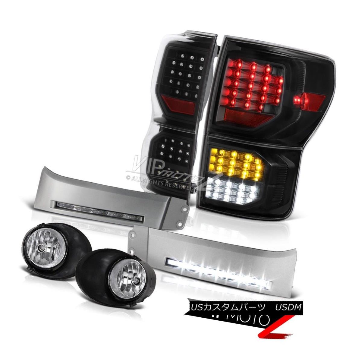 テールライト 07-13 Toyota Tundra SR5 Nighthawk Black Tail Brake Lamps Bumper DRL Foglights 07-13トヨタツンドラSR5ナイトホークブラックテールブレーキランプバンパーDRLフォグライト