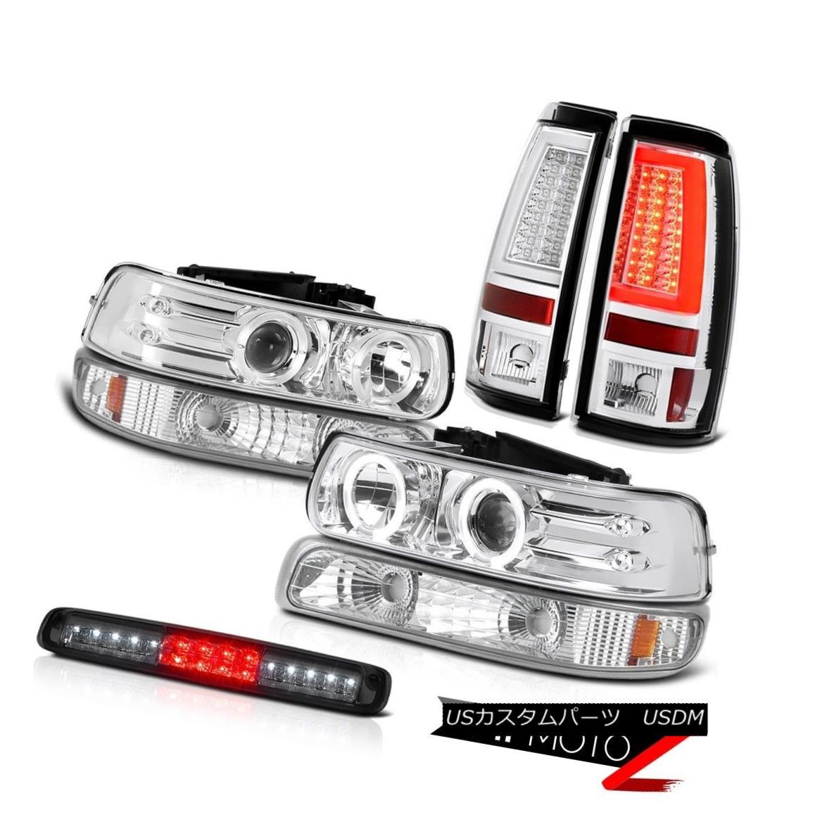 テールライト 1999-2002 Silverado 2500 Taillights Signal Lamp Headlamps 3rd Brake Angel Eyes 1999-2002 Silverado 2500灯台信号灯ヘッドランプ第3ブレーキ天使の目