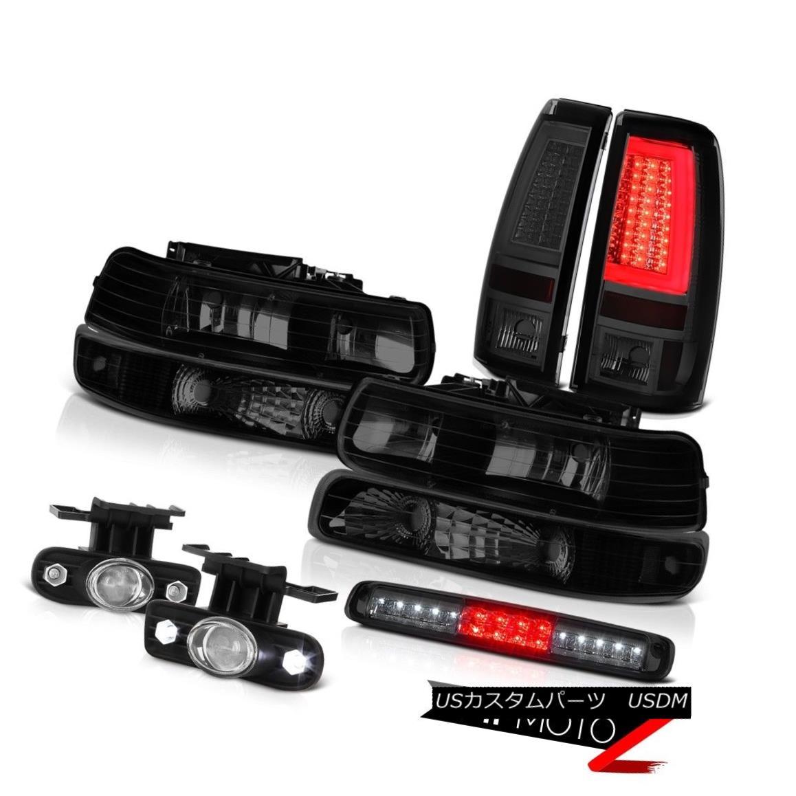 テールライト 99-02 Silverado 4.3L Taillights Headlights Bumper 3rd Brake Light Fog Lamps LED 99-02 Silverado 4.3Lテールライトヘッドライトバンパー第3ブレーキライトフォグランプLED