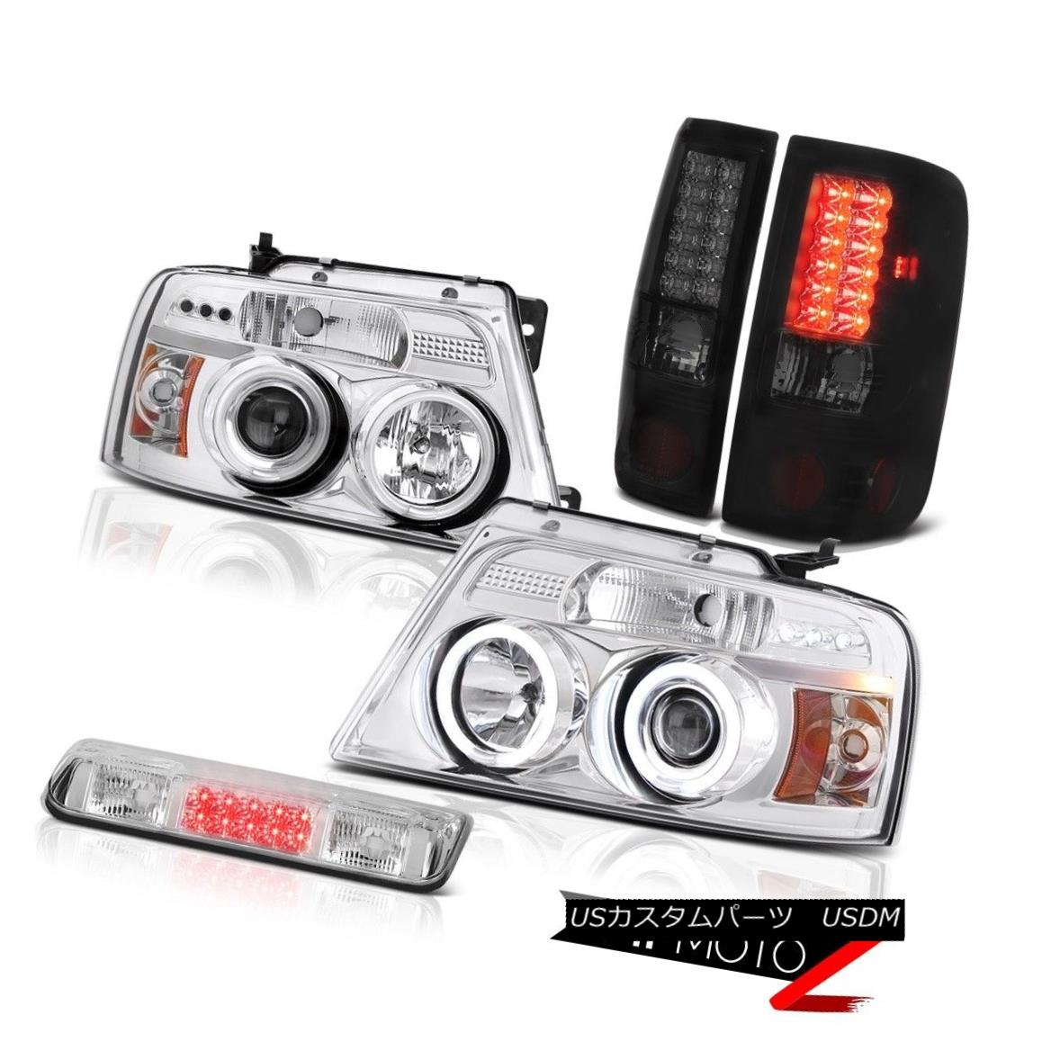 テールライト 04-08 Ford F150 FX4 Roof Cargo Lamp Headlights Rear Brake Lamps LED CCFL Halo 04-08 Ford F150 FX4ルーフカーゴランプヘッドライトリアブレーキランプLED CCFL Halo