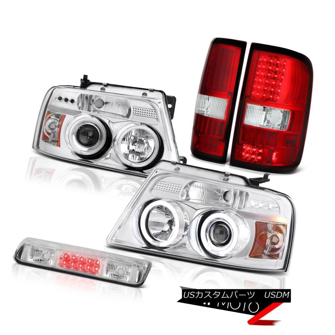 テールライト 04-08 Ford F150 XLT Clear Chrome High Stop Lamp Parking Brake Lights Headlights 04-08 Ford F150 XLTクリアクロームハイストップランプパーキングブレーキライトヘッドライト