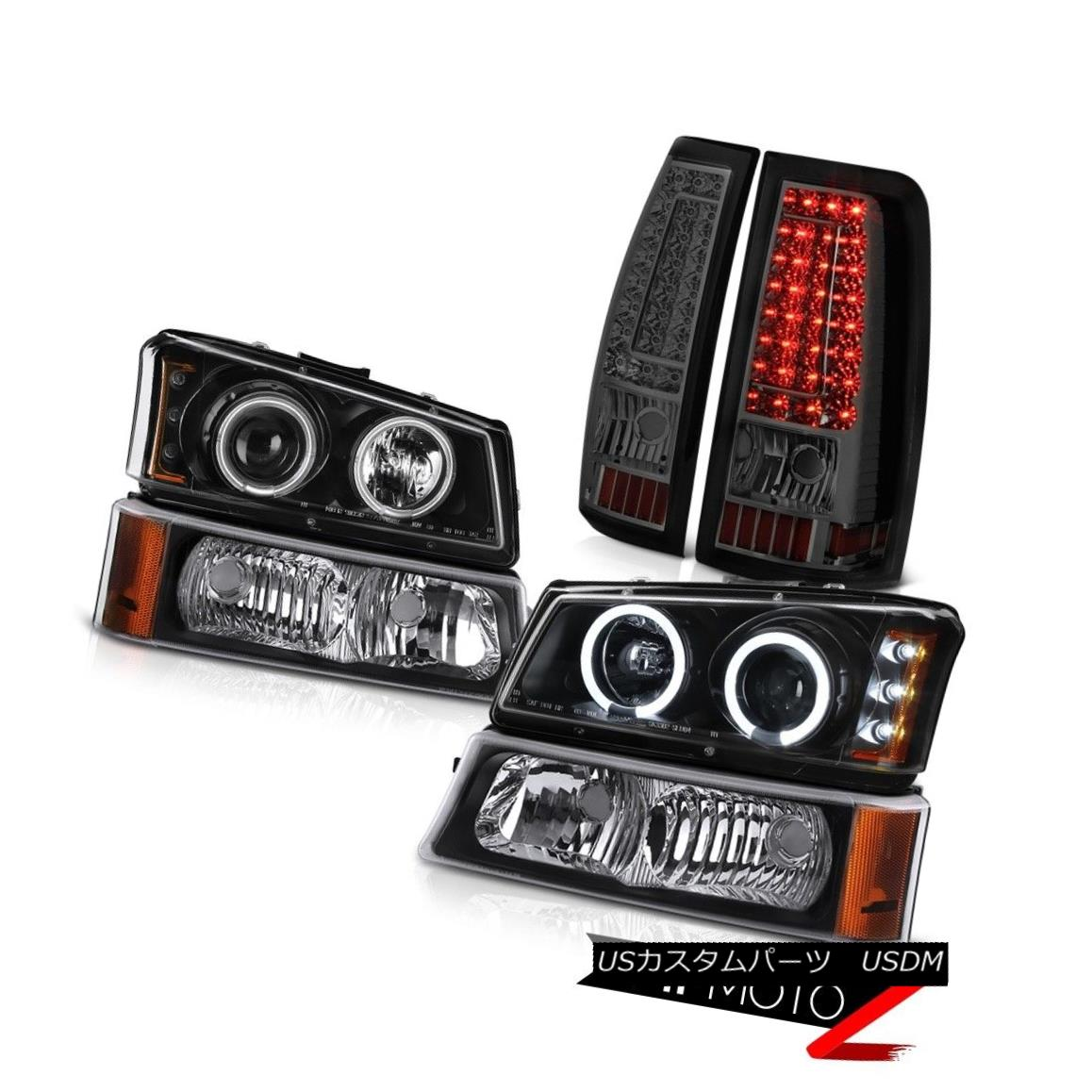 テールライト 03 04 05 06 Chevy Silverado 1500 Tail Lamps Raven Black Signal Light Headlamps 03 04 05 06 Chevy Silverado 1500テールランプRaven Blackシグナルライトヘッドランプ