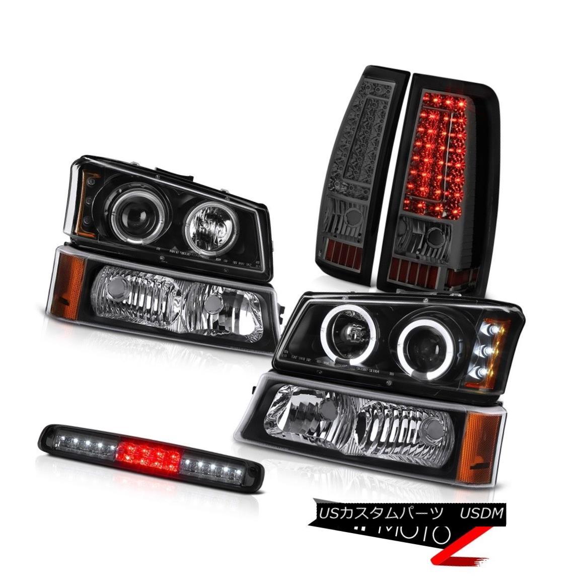 テールライト 03 04 05 06 Silverado High Stop Lamp Taillamps Bumper Headlights SMD Halo Ring 03 04 05 06 SilveradoハイストップランプタイルランプバンパーヘッドライトSMD Haloリング
