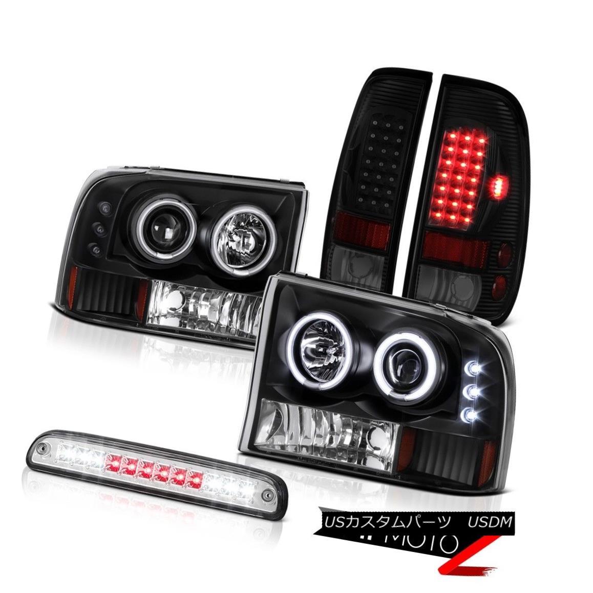 テールライト 99 00 01 02 03 04 F350 6.0L Tail Lamps Headlamps Clear Chrome Roof Brake Light 99 00 01 02 03 04 F350 6.0Lテールランプヘッドランプクリアクローム屋根ブレーキライト