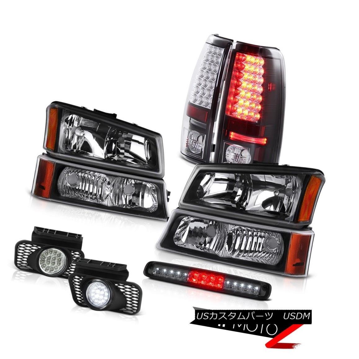 テールライト 03-06 Silverado Raven Black Signal Lamp 3RD Brake Headlights Foglamps Tail Lamps 03-06 Silverado Raven Black信号ランプ3RDブレーキヘッドライトFoglampsテールランプ