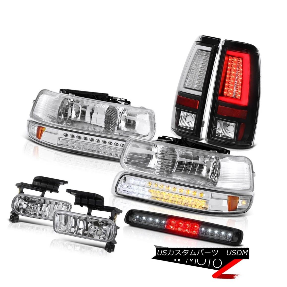 テールライト 99-02 Silverado 5.3L Taillamps Roof Cab Light Euro Chrome Headlamps Fog Lamps 99-02 Silverado 5.3L Taillampsルーフキャブライトユーロクロームヘッドランプフォグランプ