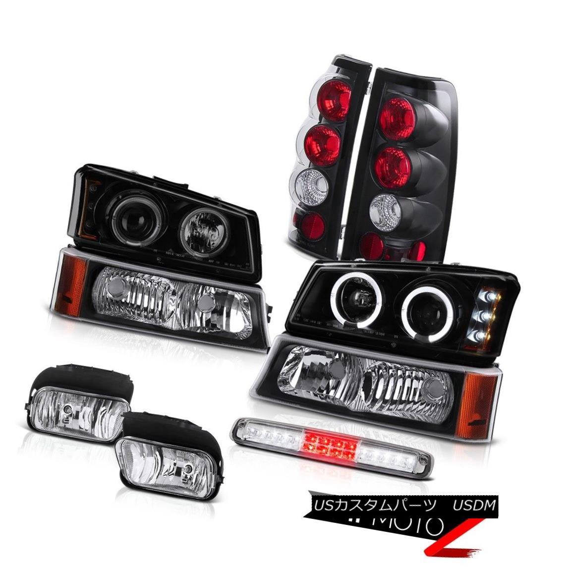テールライト 03-06 Chevy Silverado Foglamps Black Bumper Light 3RD Brake Headlamps Taillamps 03-06 Chevy Silverado Foglampsブラックバンパーライト3RDブレーキヘッドランプテールランプ