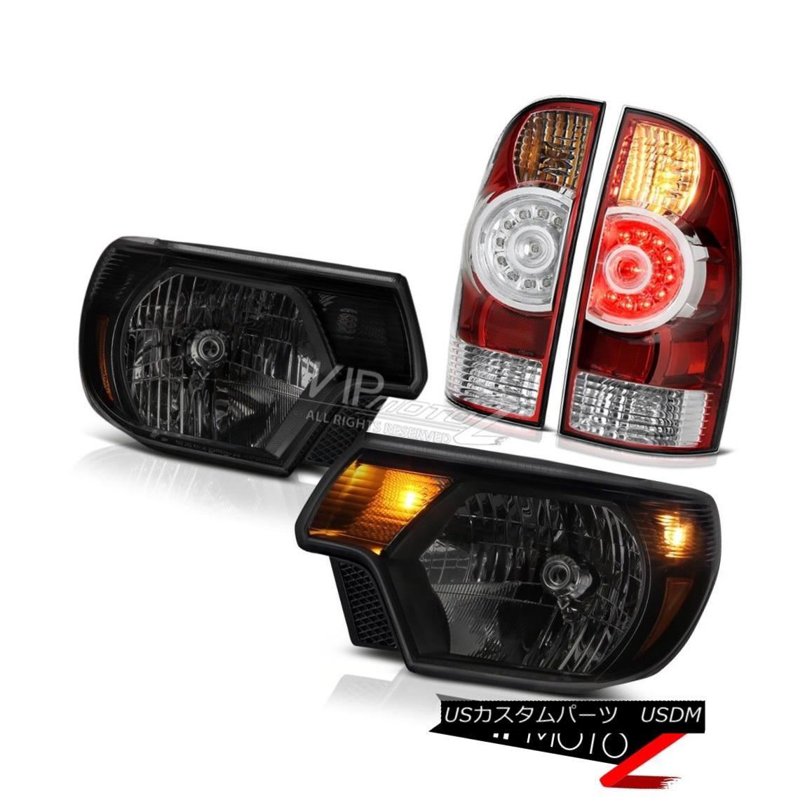 テールライト 2012 2013 2014 2015 Toyota Tacoma 4WD Dark tinted headlamps rosso red taillights 2012 2013 2014 2015トヨタタコマ4WDダークテールヘッドランプロッソ赤色テールライト
