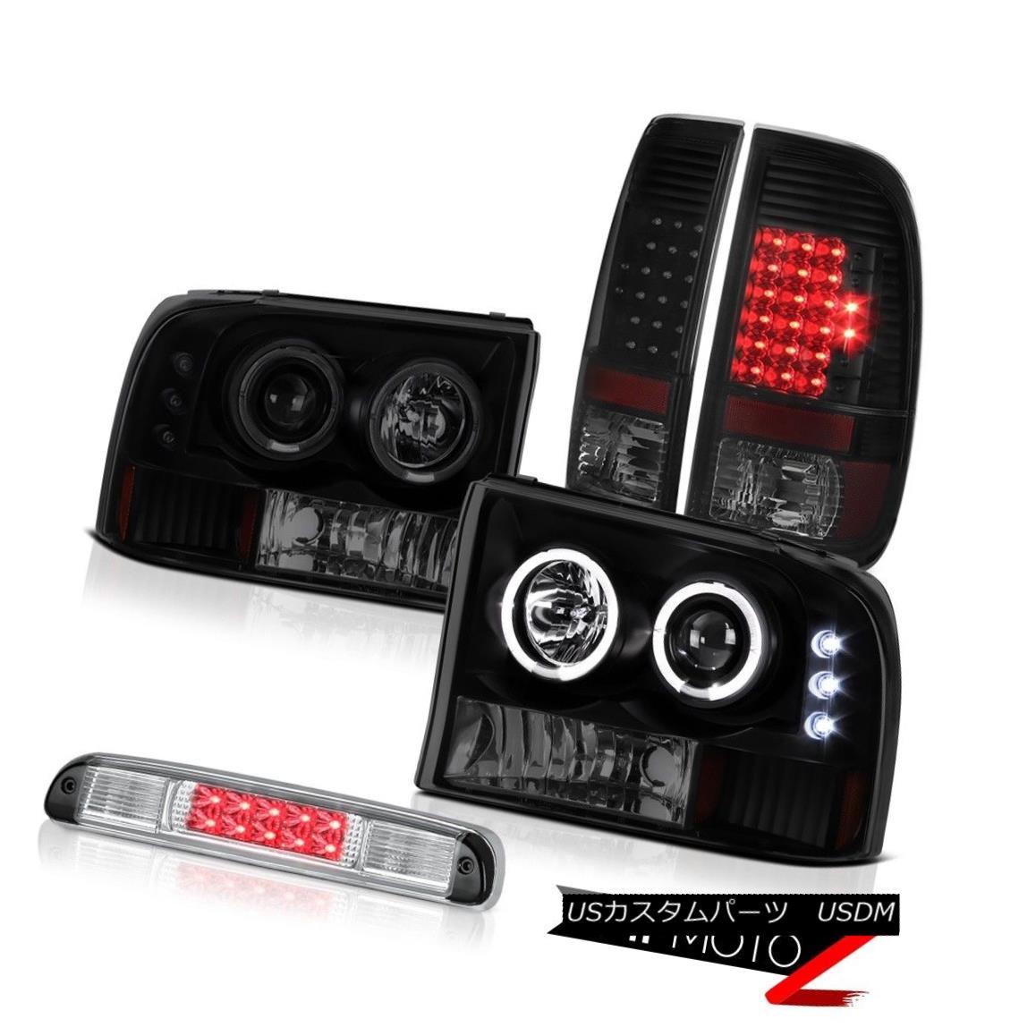 テールライト Sinister Black LED Halo Headlights Tail Lights Lamps High Stop 99-04 F250 XL Sinister Black LED HaloヘッドライトテールライトランプHigh Stop 99-04 F250 XL