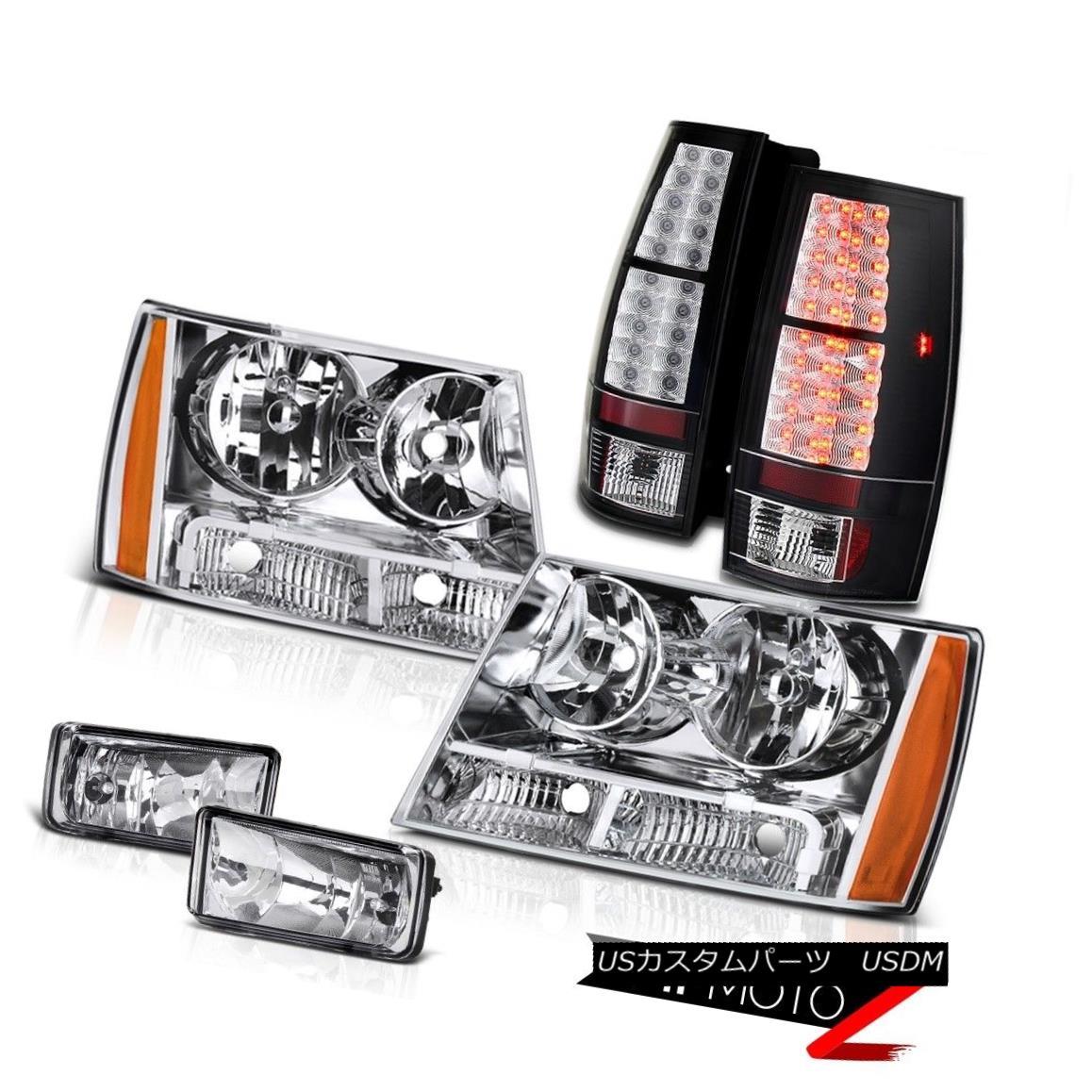 テールライト 2007-2014 Chevrolet Suburban Tahoe Chrome Front Signal Headlight+LED Tail Light 2007-2014シボレー郊外のタホのクロームフロントシグナルヘッドライト+ LEDテールライト