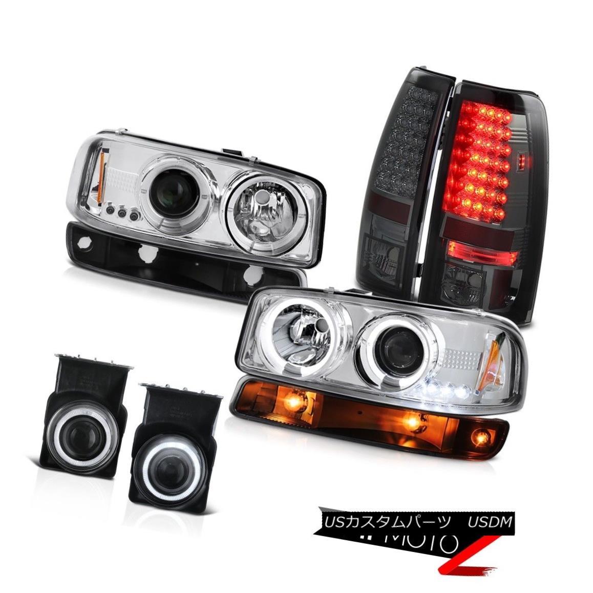 テールライト 03-06 Sierra WT Fog lamps dark smoke rear brake black turn signal Headlights 03-06シエラWTフォグランプダークスモークリアブレーキブラックターンシグナルヘッドライト