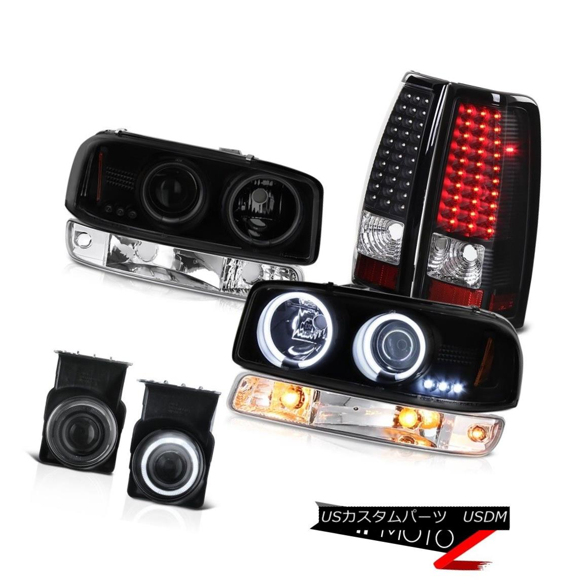 テールライト 2003-2006 Sierra SLT Foglights black led taillights parking light headlamps LED 2003-2006シエラSLTフォグライトブラックledテールライトパーキングライトヘッドランプLED