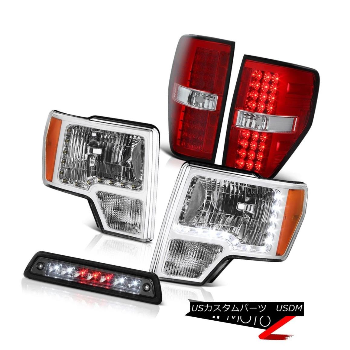 テールライト 09-14 F150 LARIAT Roof brake light red clear tail lamps headlights led drl LED 09-14 F150 LARIATルーフブレーキライト赤クリアテールランプヘッドライトled drl LED