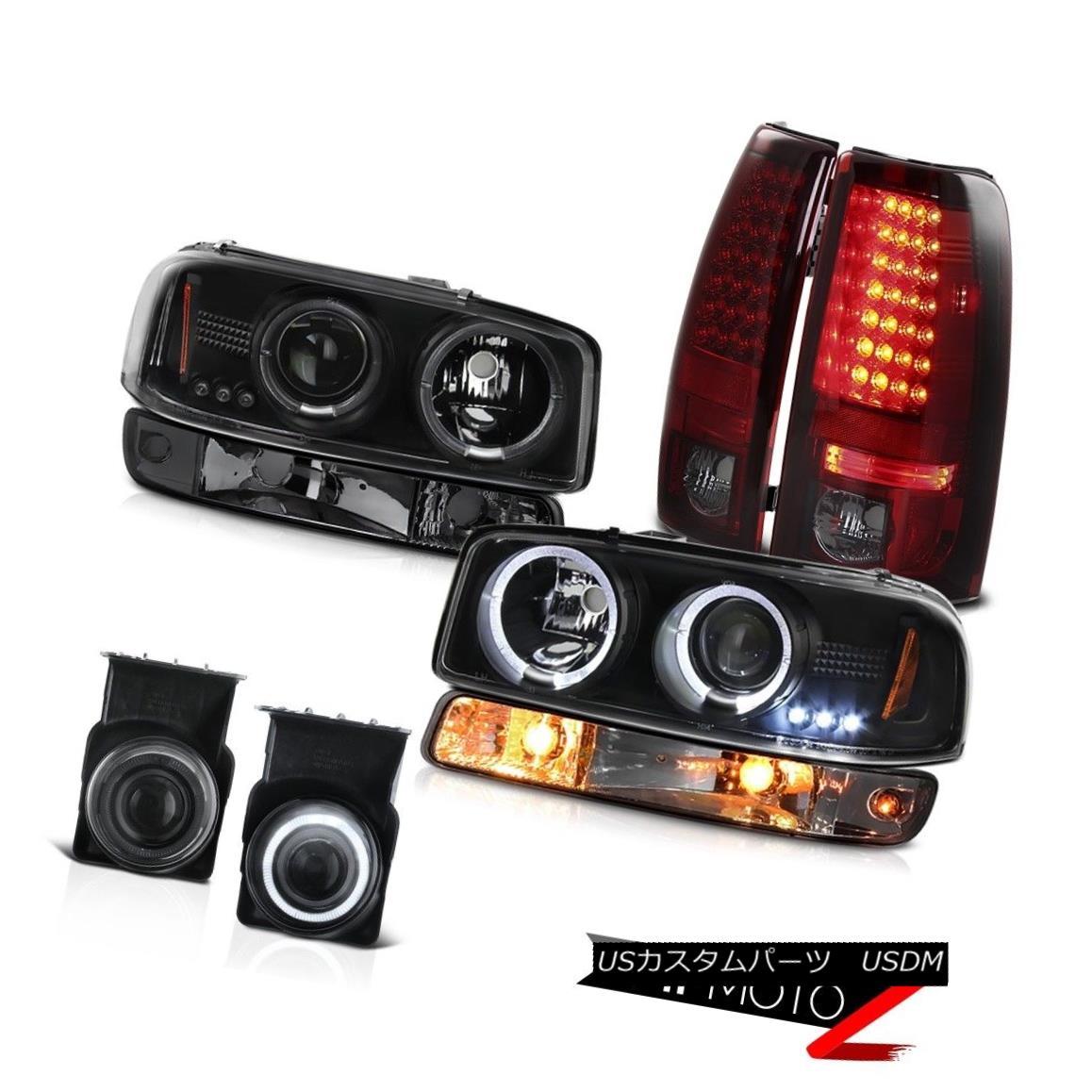 テールライト 03-06 Sierra SLT Smoked foglamps tail brake lamps signal light black headlights 03-06 Sierra SLTスモークフォグランプテールブレーキランプシグナルライトブラックヘッドライト