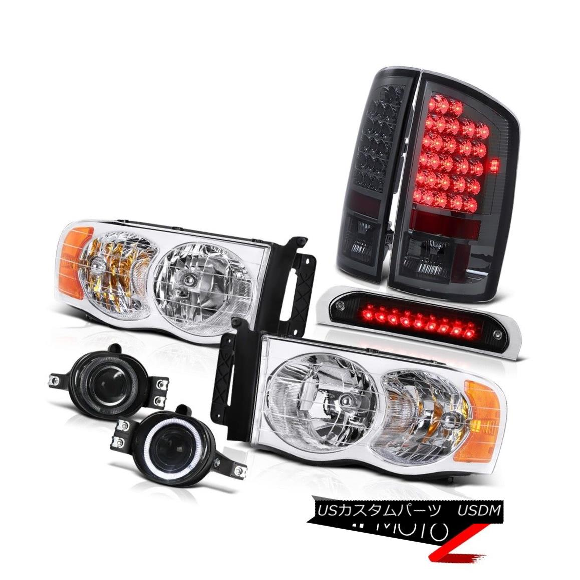 テールライト Clear Headlamps Tail Lights LED Tinted Foglights 3rd Brake 02 03 04 05 Dodge Ram クリアヘッドランプテールライトLED Tinted Foglights 3rdブレーキ02 03 04 05 Dodge Ram