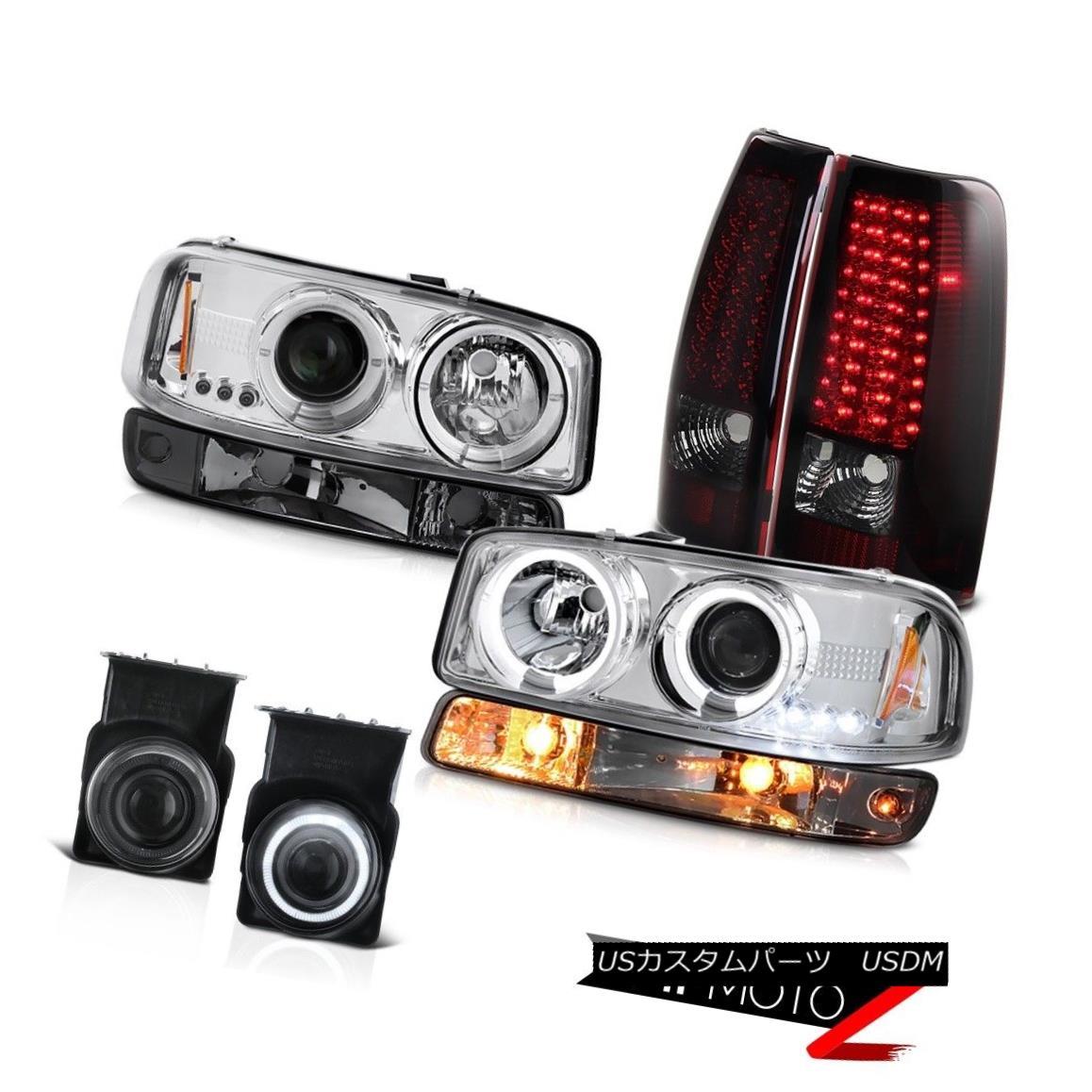 テールライト 03-06 Sierra SL Foglamps smokey red smd taillights turn signal chrome headlights 03-06 Sierra SL Foglampsスモーリー・レッドsmdテールライト・シグナル・クローム・ヘッドライト