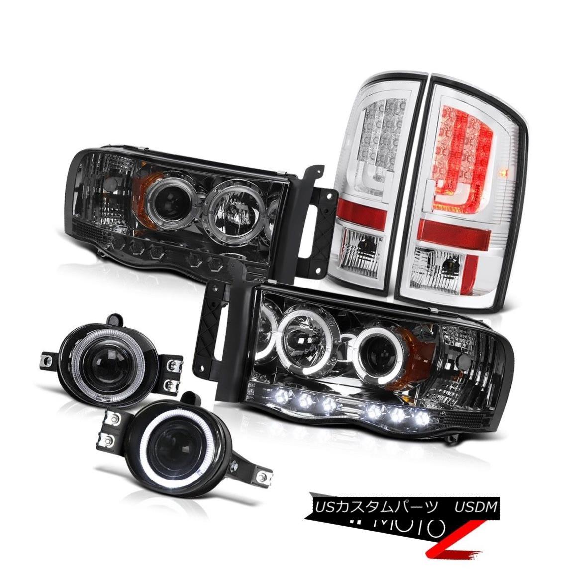 テールライト 02-05 Dodge Ram 2500 1500 4.7L Chrome Tail Brake Lamps Headlamps Fog Light Bar 02-05 Dodge Ram 2500 1500 4.7Lクロームテールブレーキランプヘッドランプフォグライトバー