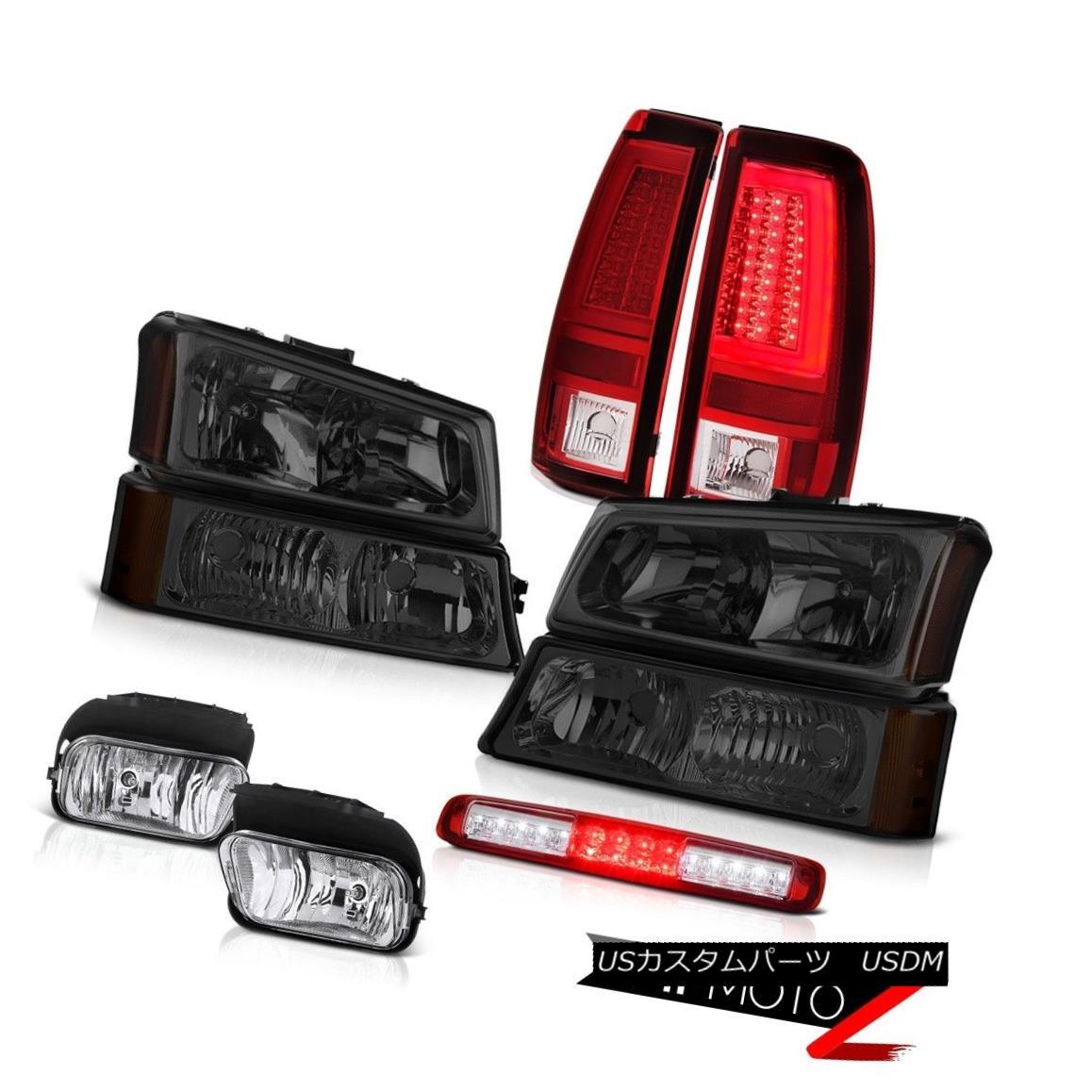 テールライト 03-06 Chevy Silverado Red Taillights Fog Lamps Signal Lamp Roof Cargo Headlamps 03-06 Chevy Silverado赤い灯台フォグランプ信号ランプ屋根カーゴヘッドランプ
