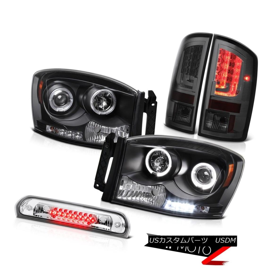 テールライト 2006 Ram 4.7L Taillamps Black Headlights High STop Lamp Light Bar