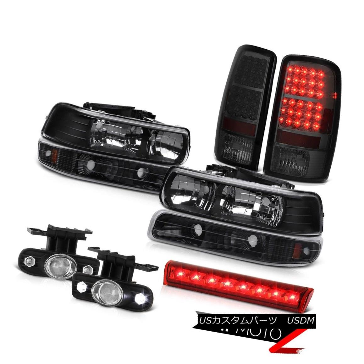 99-04 Ford F250 F350 F450 SD Angel Eye Headlamp Red Tail Light Projector Foglamp