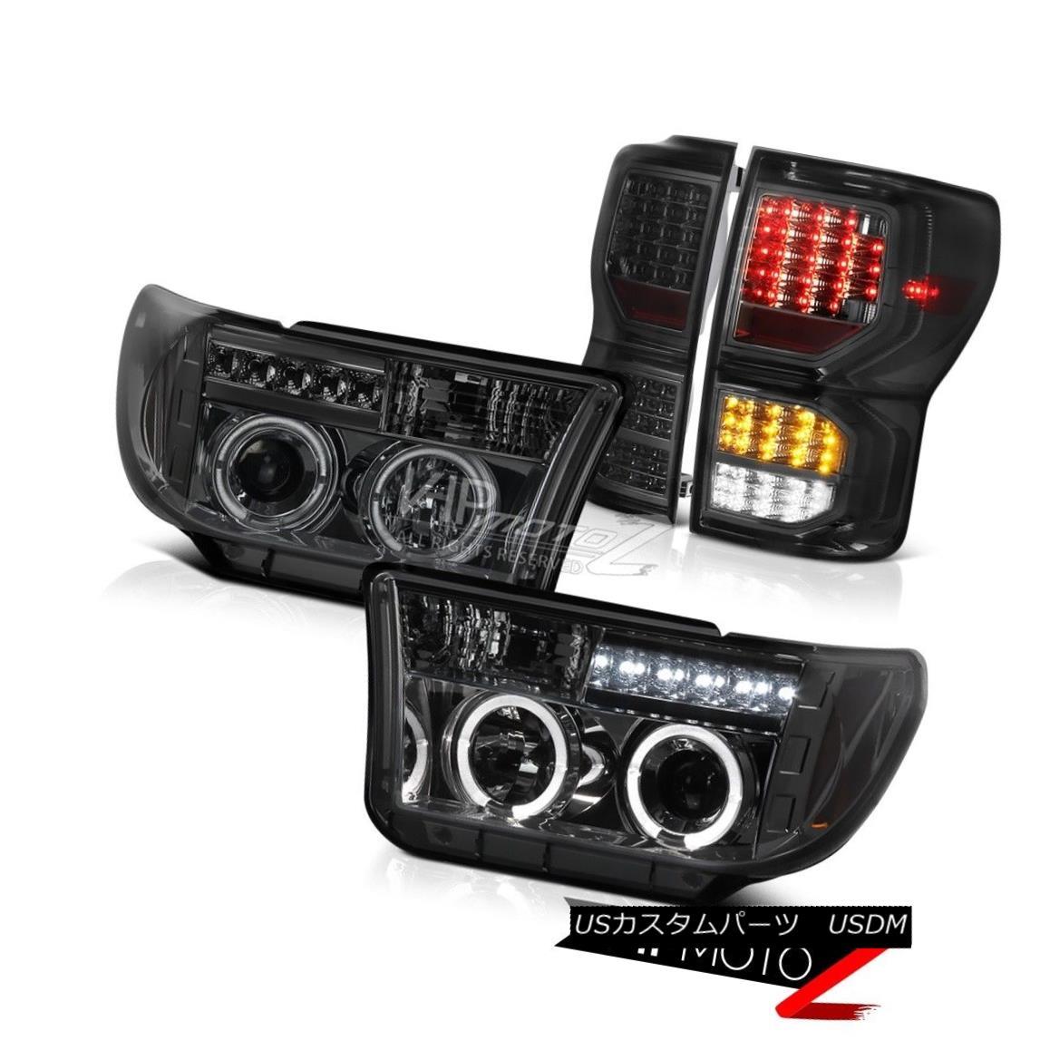 テールライト 07-13 Toyota Tundra SR5 Rear Brake Lights Projector Headlamps DRL