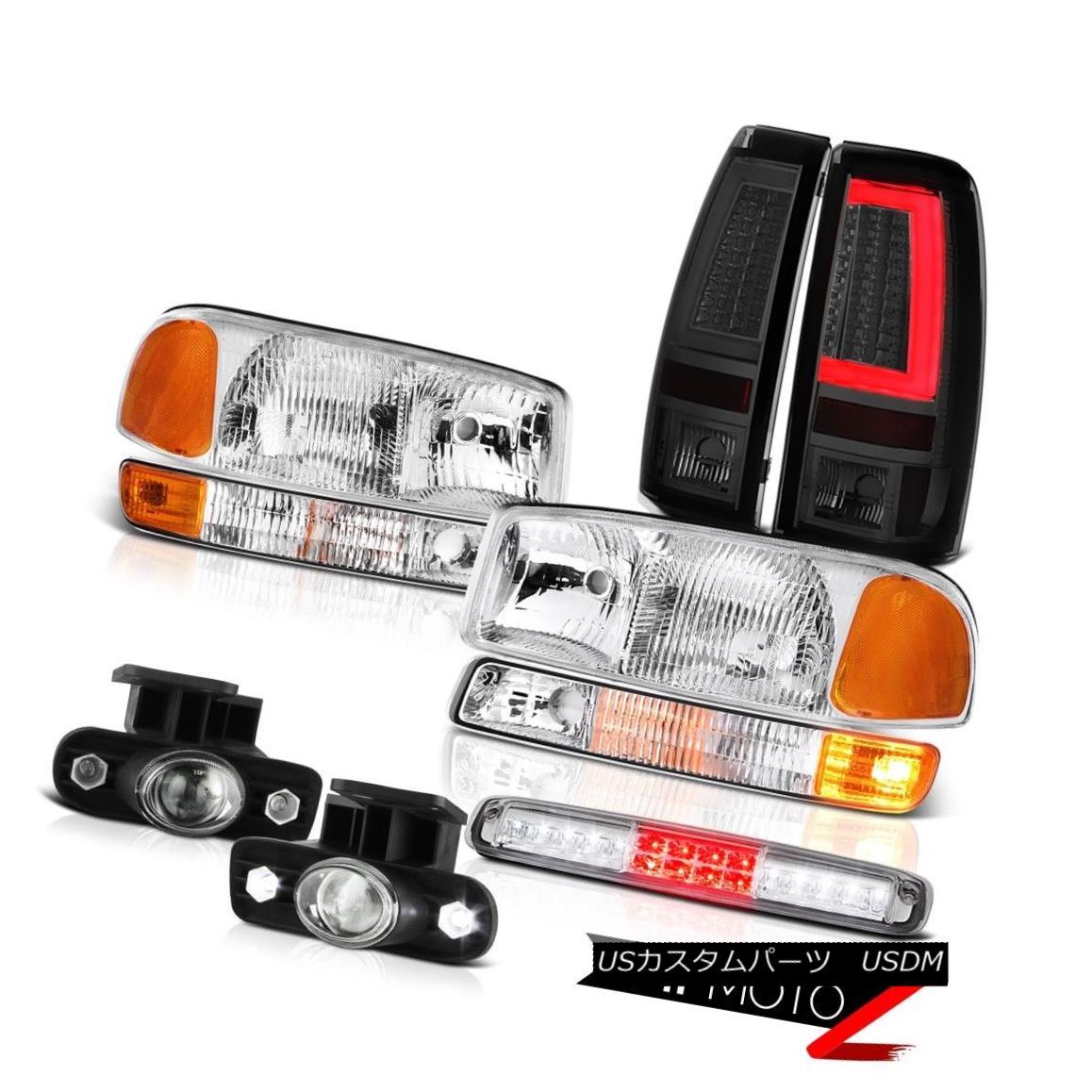 テールライト 1999-2002 Sierra SL Chrome Headlamps Corner Tail Lights Roof Cab Light Fog LED 1999-2002シエラSLクロームヘッドランプコーナーテールライトルーフキャブライトフォグLED