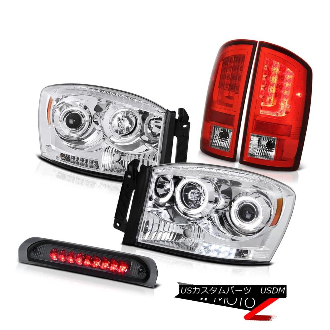 テールライト 2006 Dodge Ram Red Taillights Headlights High STop Lamp Dual Halo