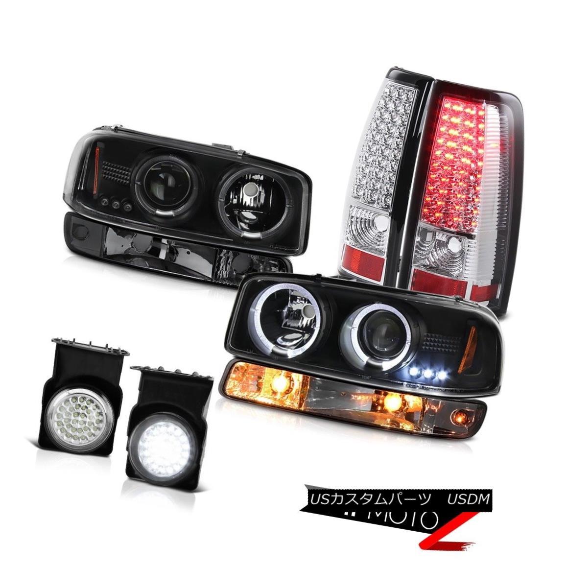 テールライト 03-06 Sierra WT Fog lights smd parking brake light nighthawk Black Headlamps 03-06シエラWTフォグライトsmdパーキングブレーキライトナイトホークブラックヘッドランプ