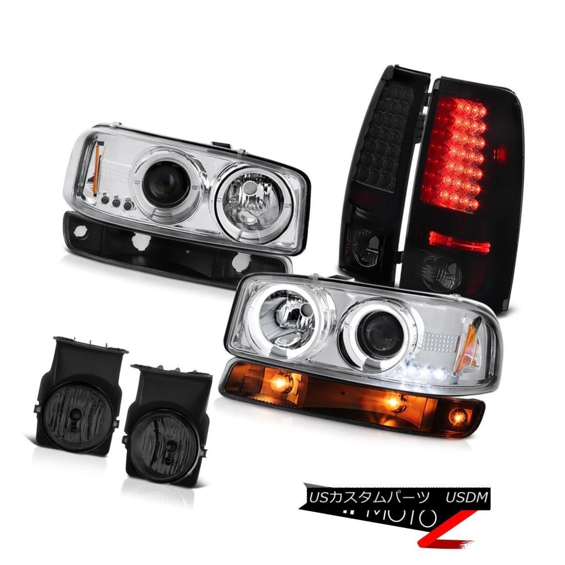 テールライト 03-06 Sierra GMT800 Graphite smoke foglights taillamps parking light headlights 03-06 Sierra GMT800グラファイトスモークフォグライトテールランプパーキングライトヘッドライト