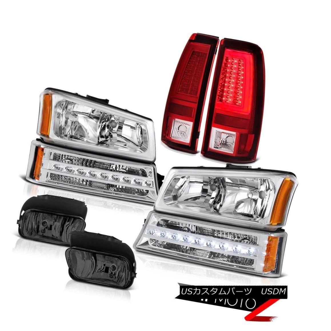 テールライト 2003-2006 Silverado Rosso Red Tail Lamps Smokey Fog Headlights Turn Signal LED 2003-2006 Silverado RossoレッドテールランプスモーキーフォッグヘッドライトTurn Signal LED