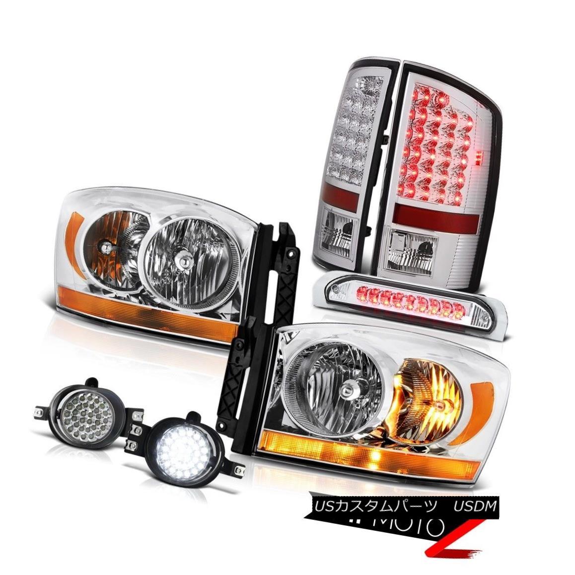 テールライト 2007-2009 Dodge Ram 3500 3.7L Headlamps Foglights 3RD Brake Light Tail Lamps 2007-2009 Dodge Ram 3500 3.7Lヘッドライトフォグライト3RDブレーキライトテールランプ