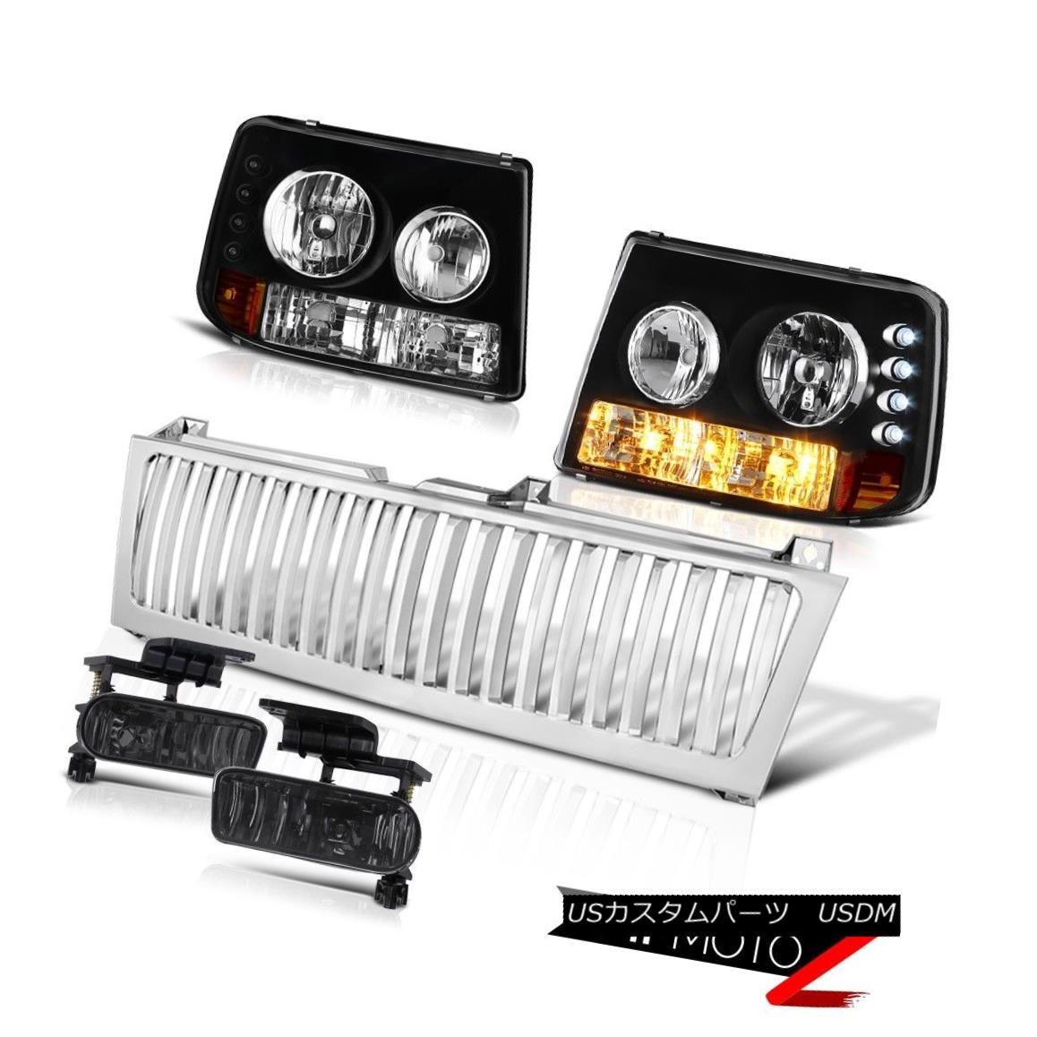 テールライト 00-06 Suburban 6.0L [Brightest] Headlights Lamps Bumper Smoke Fog Chrome Grille 00-06郊外6.0L [明るい]ヘッドランプランプバンパースモークフォグクロームグリル