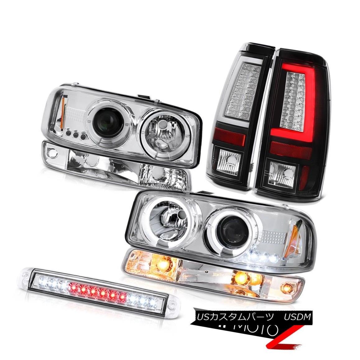 テールライト 99-06 Sierra 5.3L Taillamps Roof Brake Light Signal Lamp Headlamps Angel Eyes 99-06 Sierra 5.3L Taillampsルーフブレーキライトシグナルランプヘッドランプエンジェルアイズ