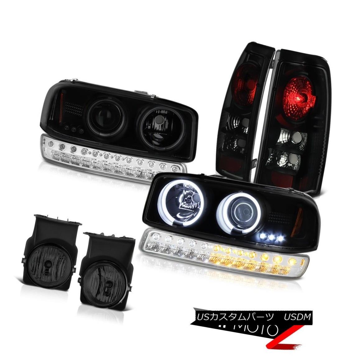 テールライト 03-06 Sierra 3500HD Graphite Smoke Fog Lights Tail Lamps Turn Signal Headlamps 03-06 Sierra 3500HDグラファイト煙霧灯テールランプターンシグナルヘッドランプ